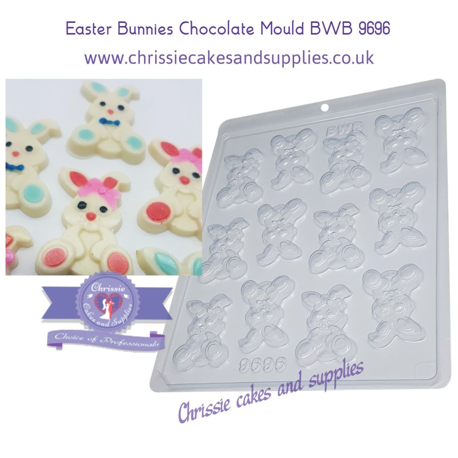 Easter Bunnies Chocolate Mould BWB 9696