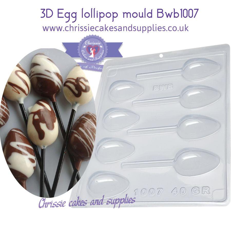 3D Egg lollipop mould Bwb1007