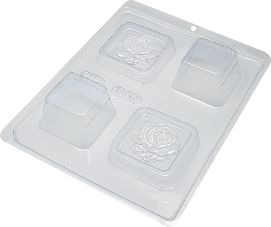 Mini Crafted Flower Box - 3 part chocolate mould BWB 840