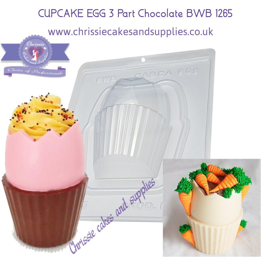 CUPCAKE EGG 3 Part Chocolate BWB 1265