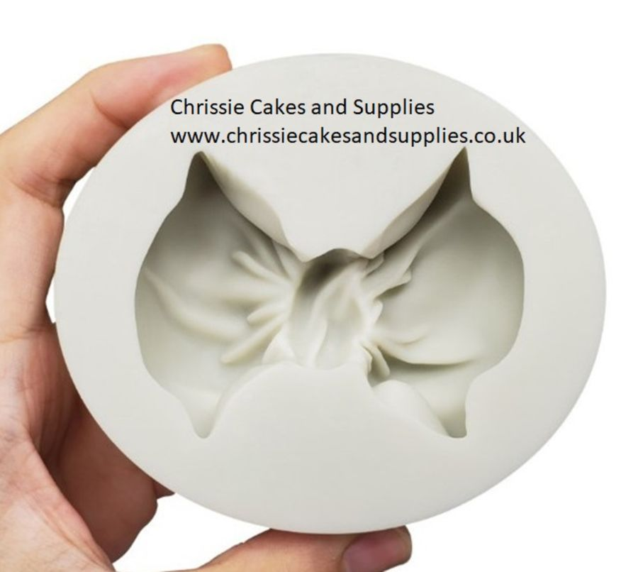 Puffy bow silicone mould - 3 inch