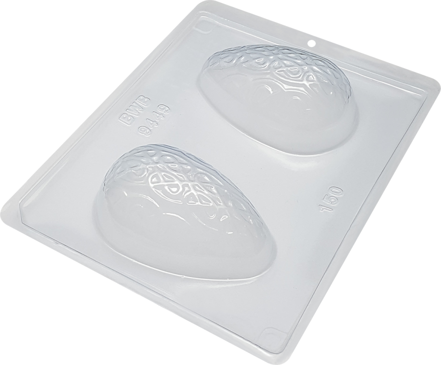 Weaver Textured Egg 150g BWB 9449 - 3 Part Chocolate Mould
