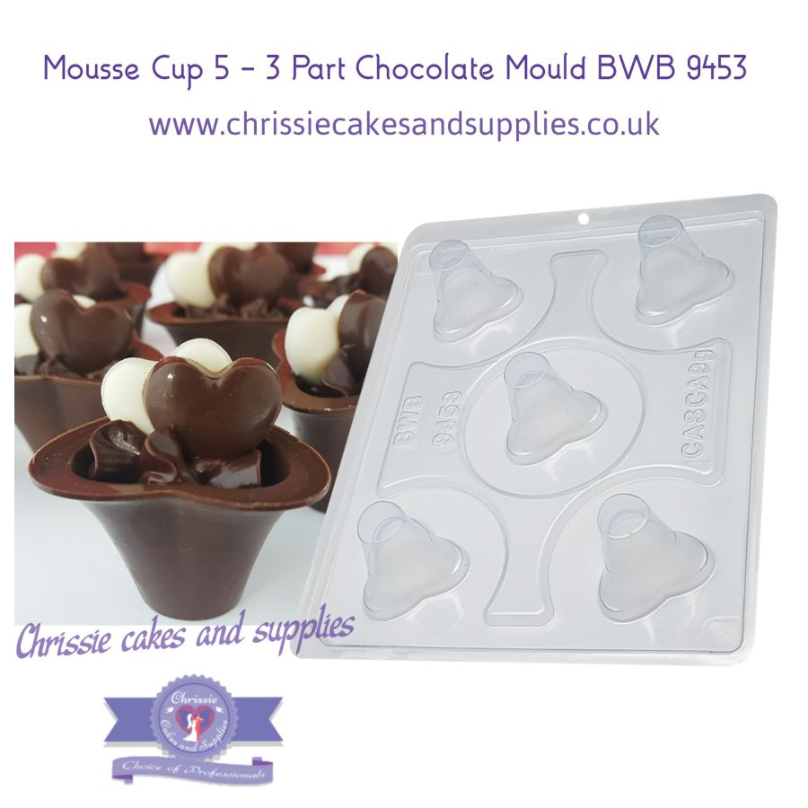 Mousse Cup 5 - 3 Part Chocolate Mould BWB 9453