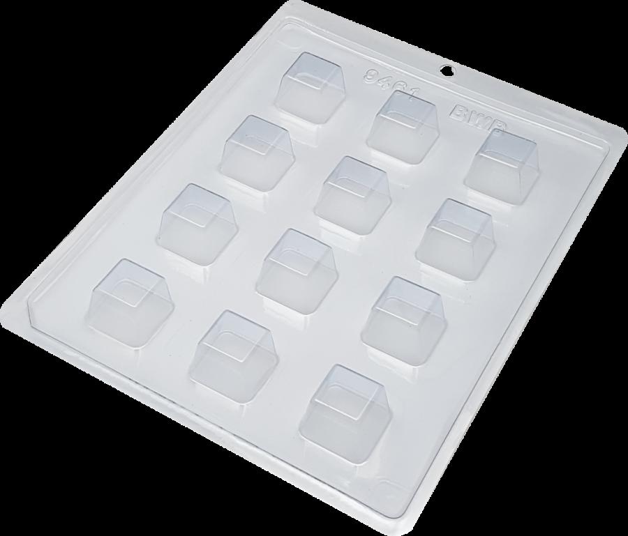 12 Cavity Medium Square Truffle Candy BWB 9461 - Simple Chocolate Mould