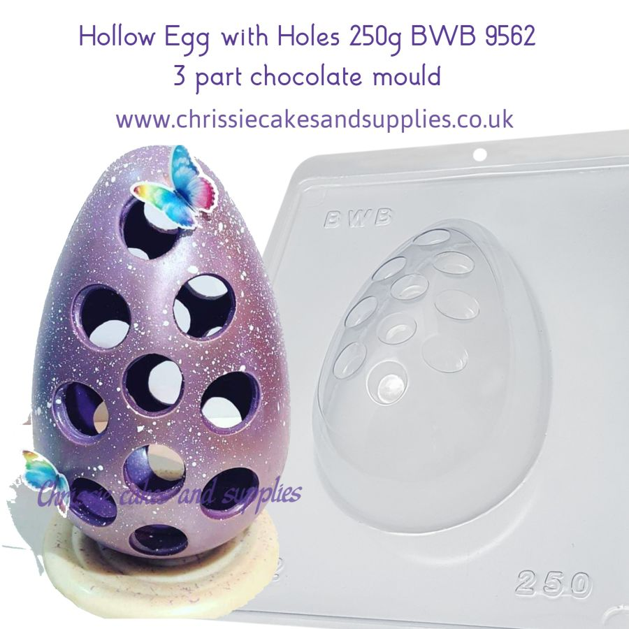 Hollow Egg with Holes 250g BWB 9562 - 3 Part Chocolate Mould