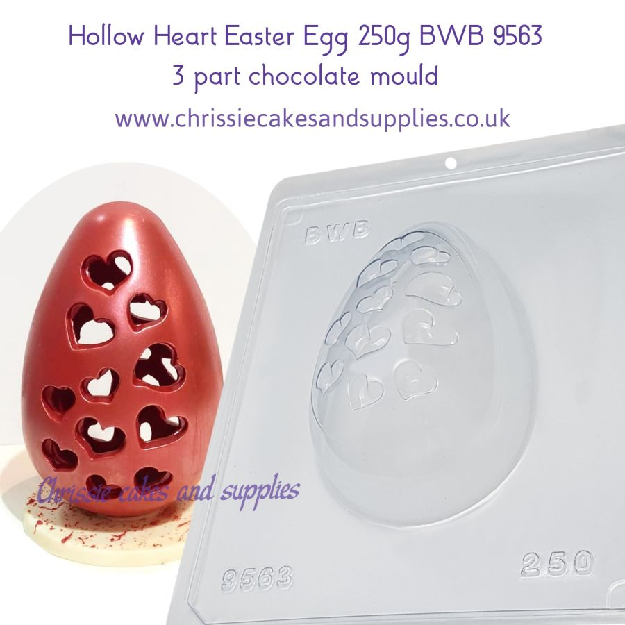 Hollow Heart Easter Egg 250g BWB 9563 - 3 part chocolate mould