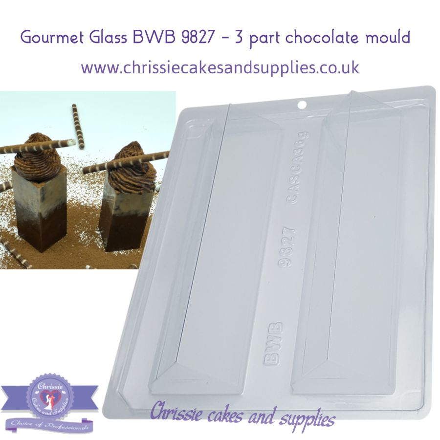 Gourmet Glass BWB 9827 - 3 part chocolate mould