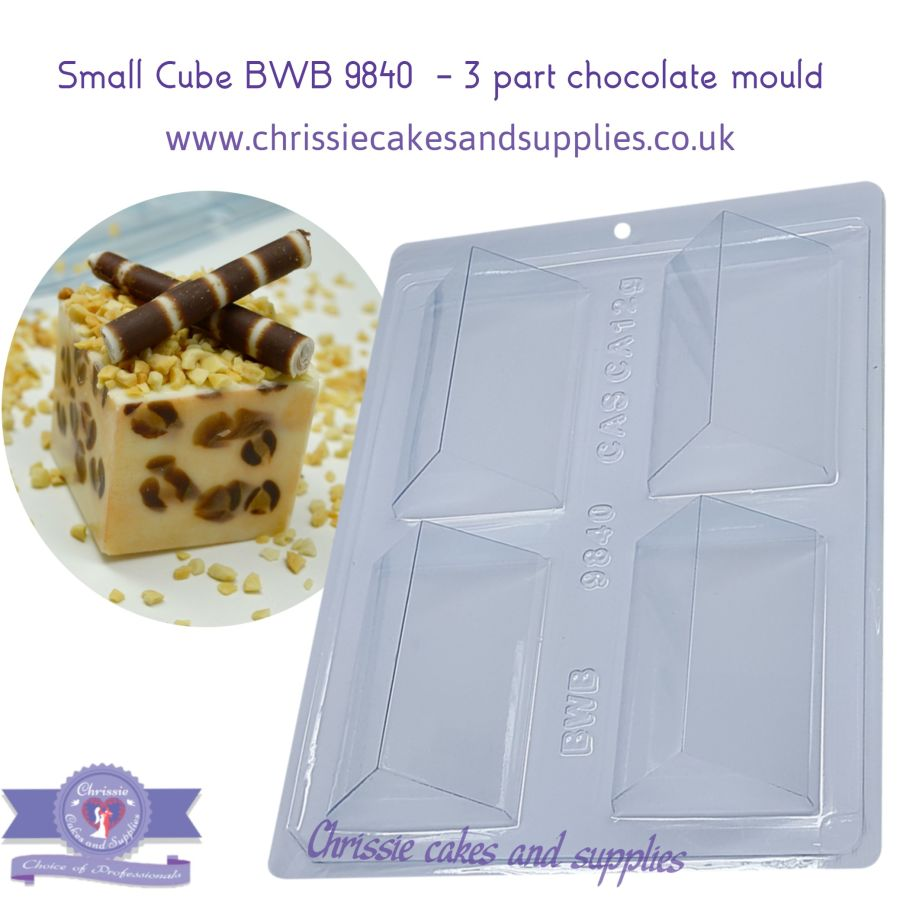 Small Cube BWB 9840 - 3 part chocolate mould
