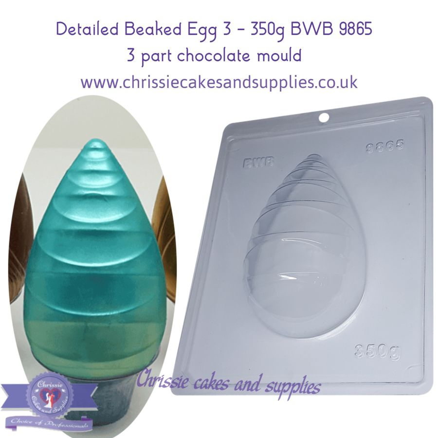 Detailed Beaked Egg 3 - 350g BWB 9865 - 3 Part Chocolate Mould