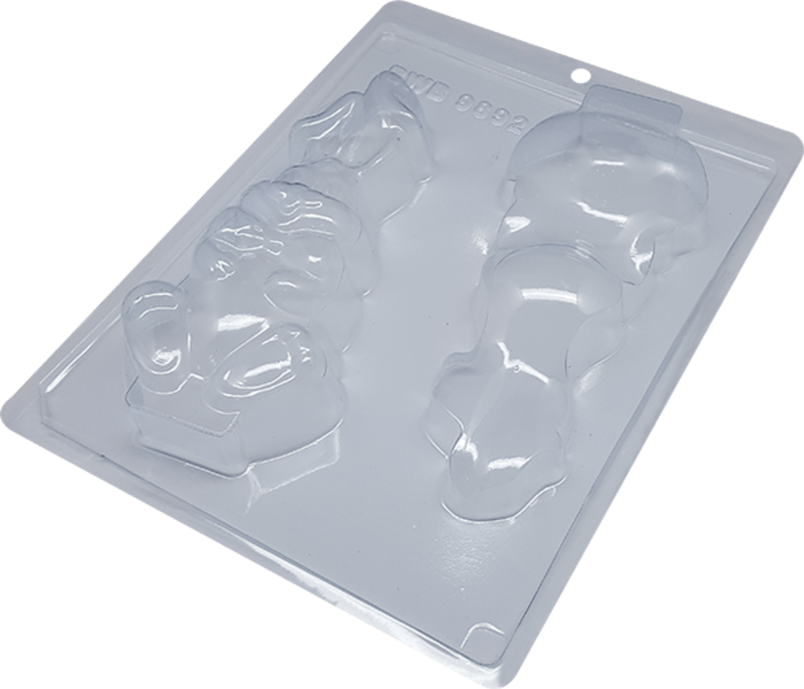 Sitting Rabbit Bunny BWB 9892 - 3 Part Cocolate Mould