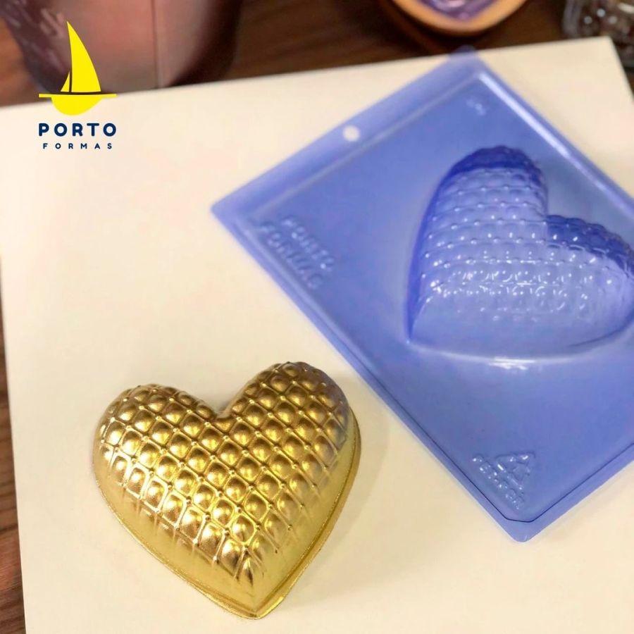 Matelasse Heart - PFM 84 - 3 part chocolate mould