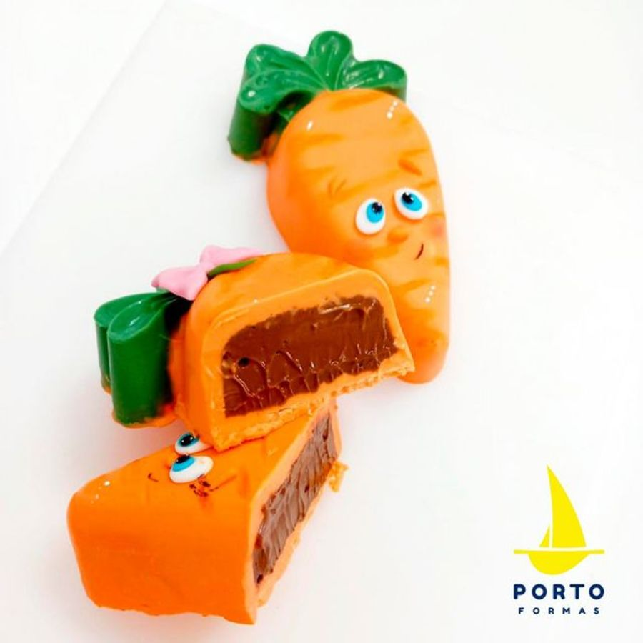 Stuffed Carrot - Pfm 96 - 3 part chocolate mould