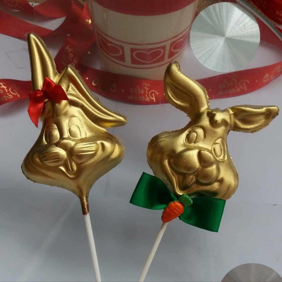 Bunny Lollipop Pfm 402 . Simple Chocolate Mould
