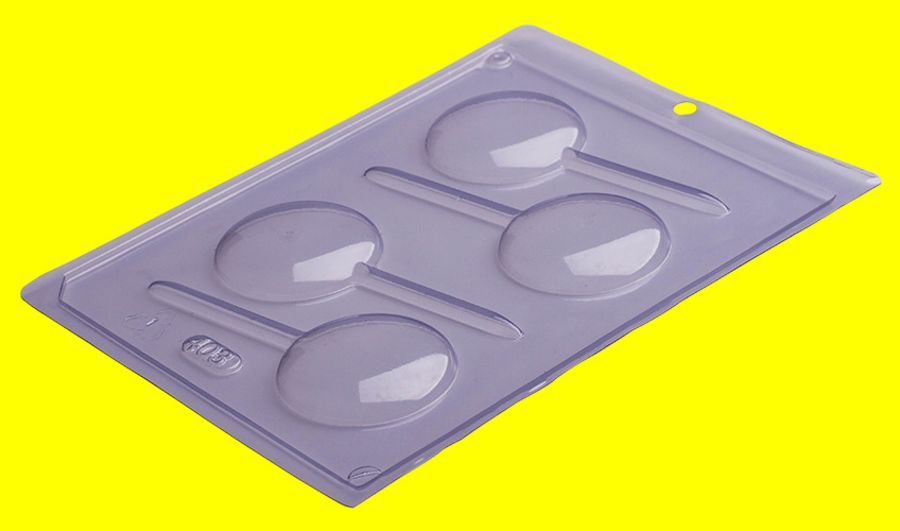 Rounded Smooth Lollipop mould - PFM 403