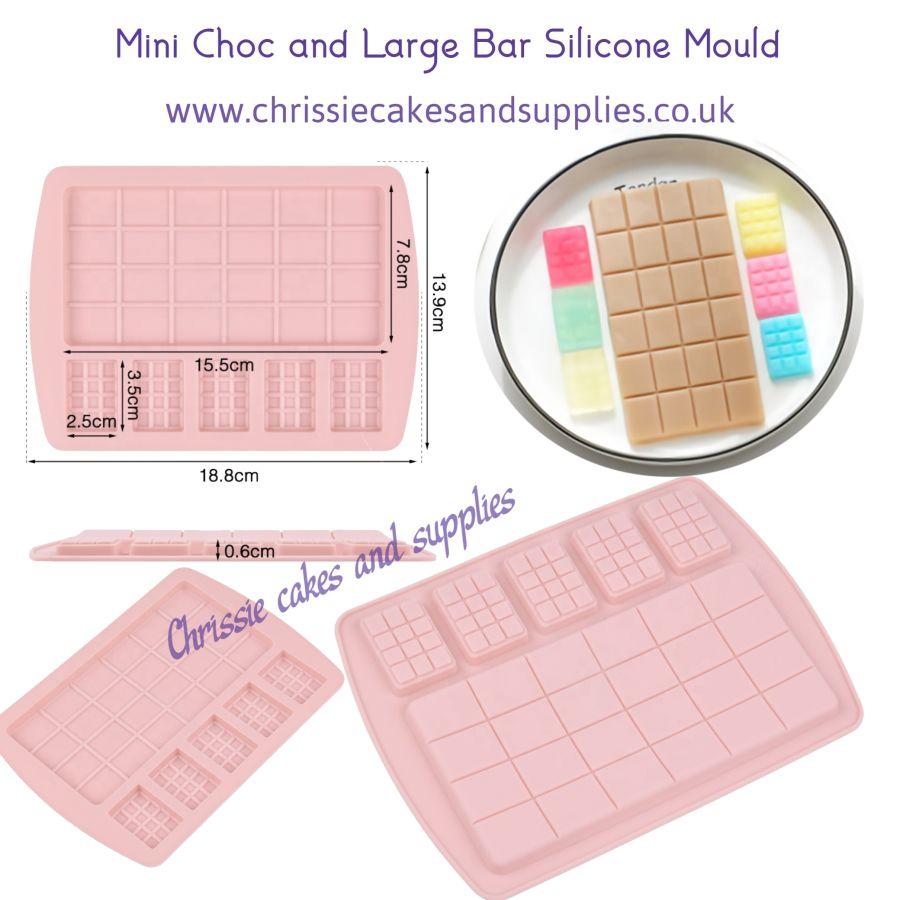 Mini Choc and Large Bar Silicone Mould