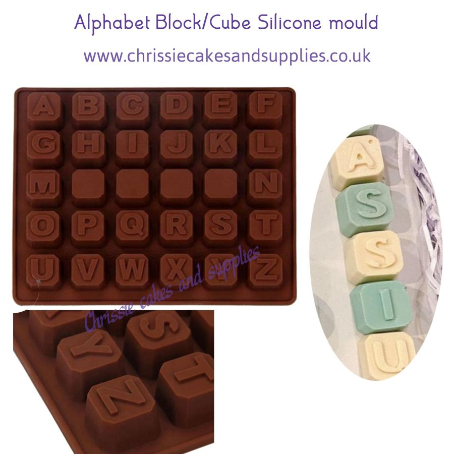 Alphabet block/Cube Silicone mould