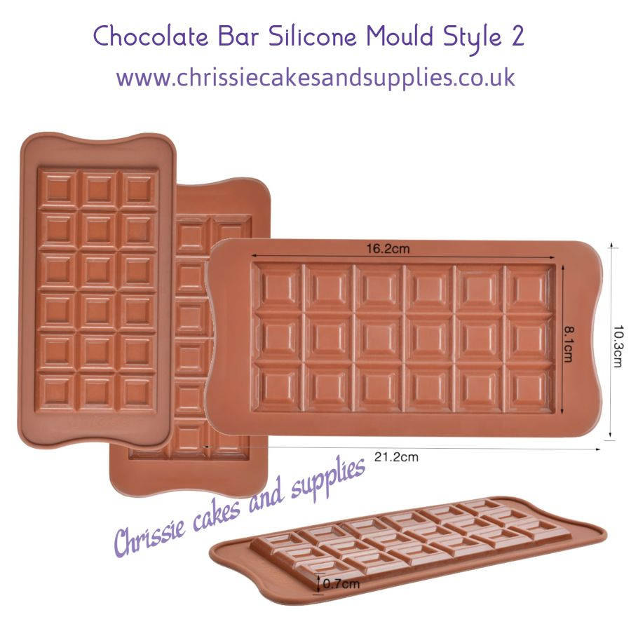 Chocolate Bar Silicone Mould Style 2