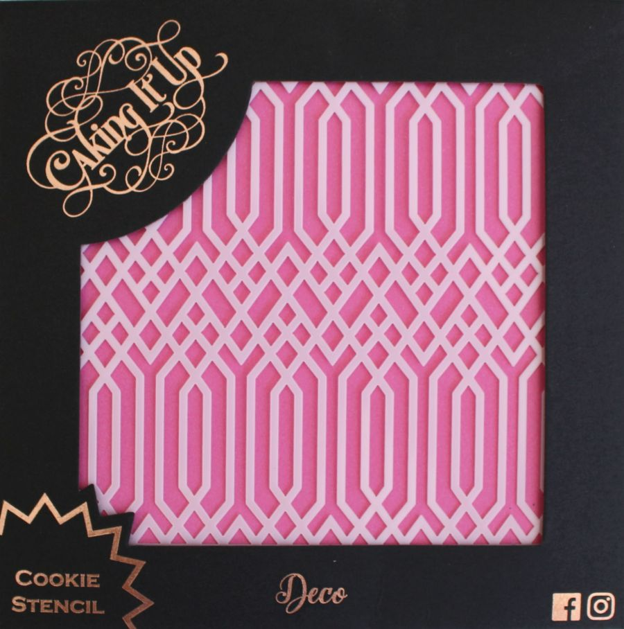 Deco Cookie Stencil - Caking it Up