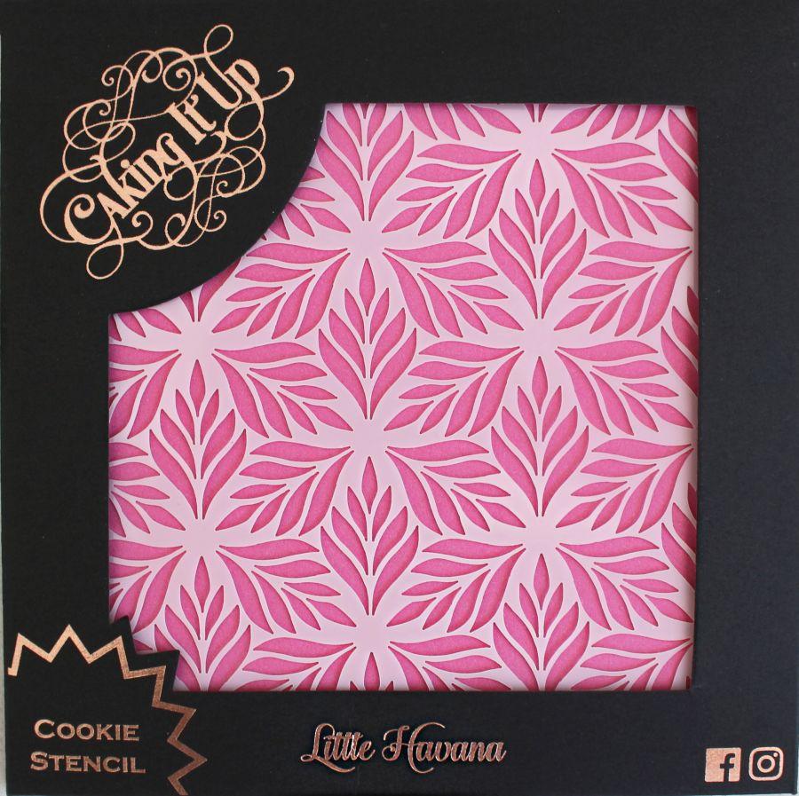 Little Havana Cookie Stencil - Caking it Up