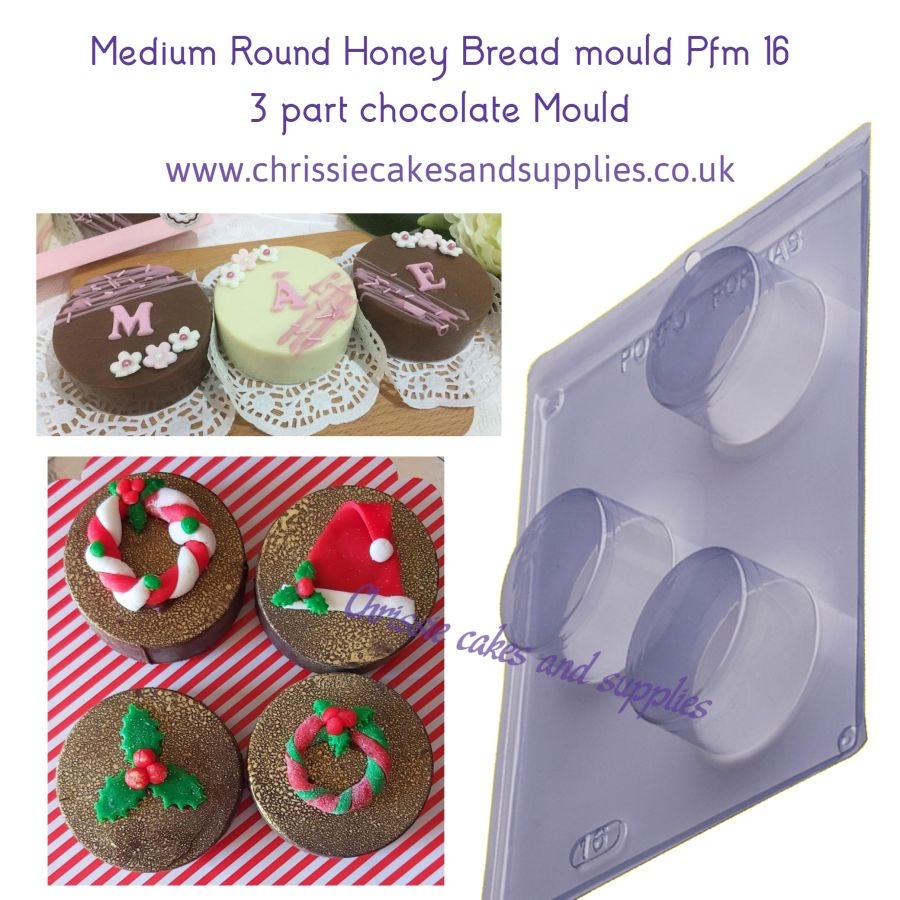Medium Round Honey Bread mould Pfm 16 - 3 part chocolate Mould