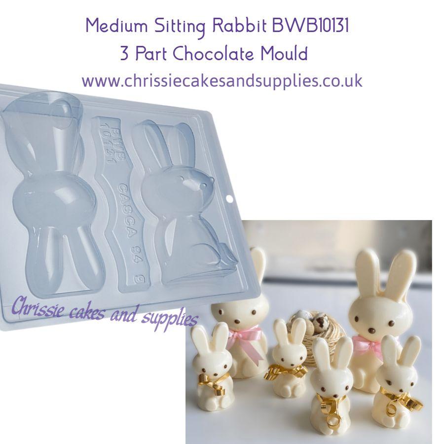 Medium Sitting Rabbit 170g 3 Part Chocolate mould BWB10131