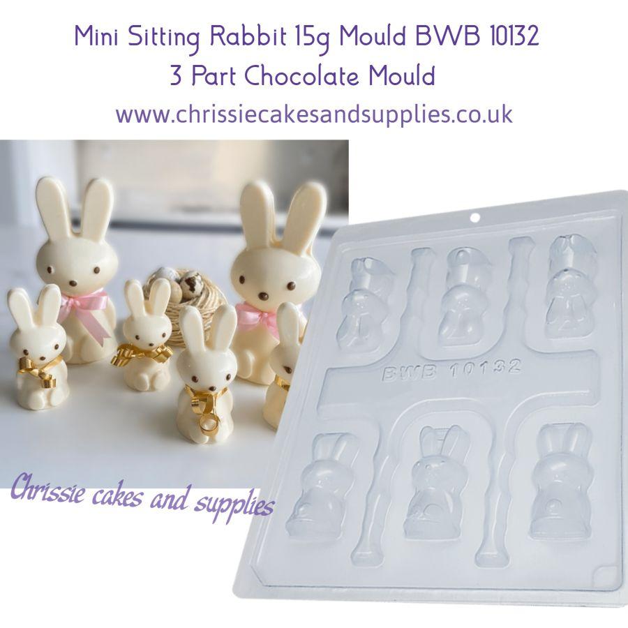 Mini Sitting Rabbit 15g 3 Part Chocolate Mould BWB 10132