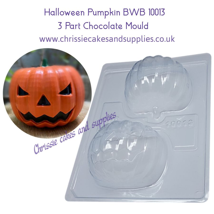 Halloween Pumpkin 3 part mould BWB10013