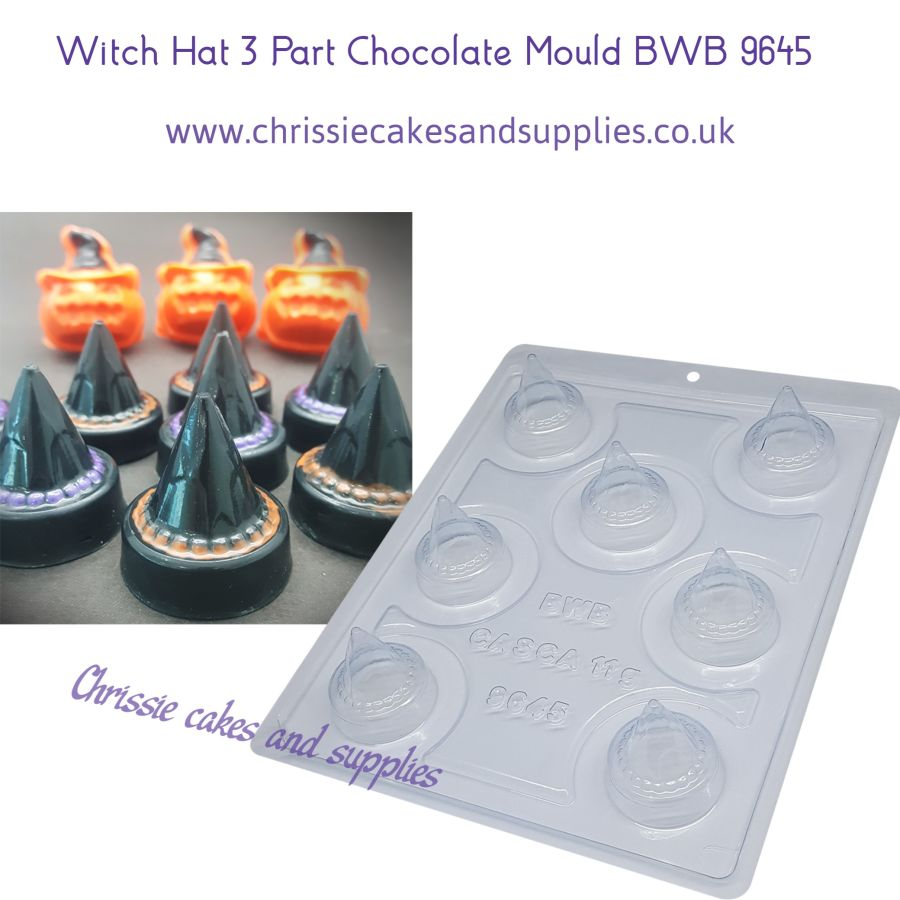 Witch Hat 3 Part Chocolate Mould BWB 9645