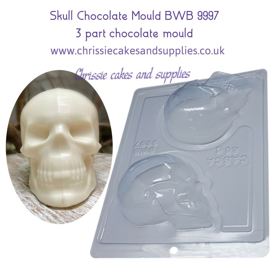 Skull 3 part Chocolate Mould BWB 9997