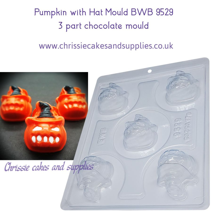 Pumpkin with Hat Mould BWB 9529