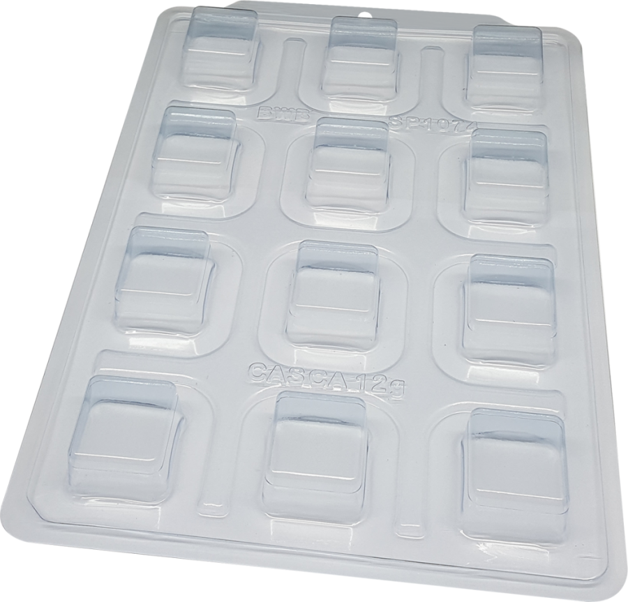 BWB 3523 - SP 1074 Square Candy Cake 45g - 3 part chocolate mould