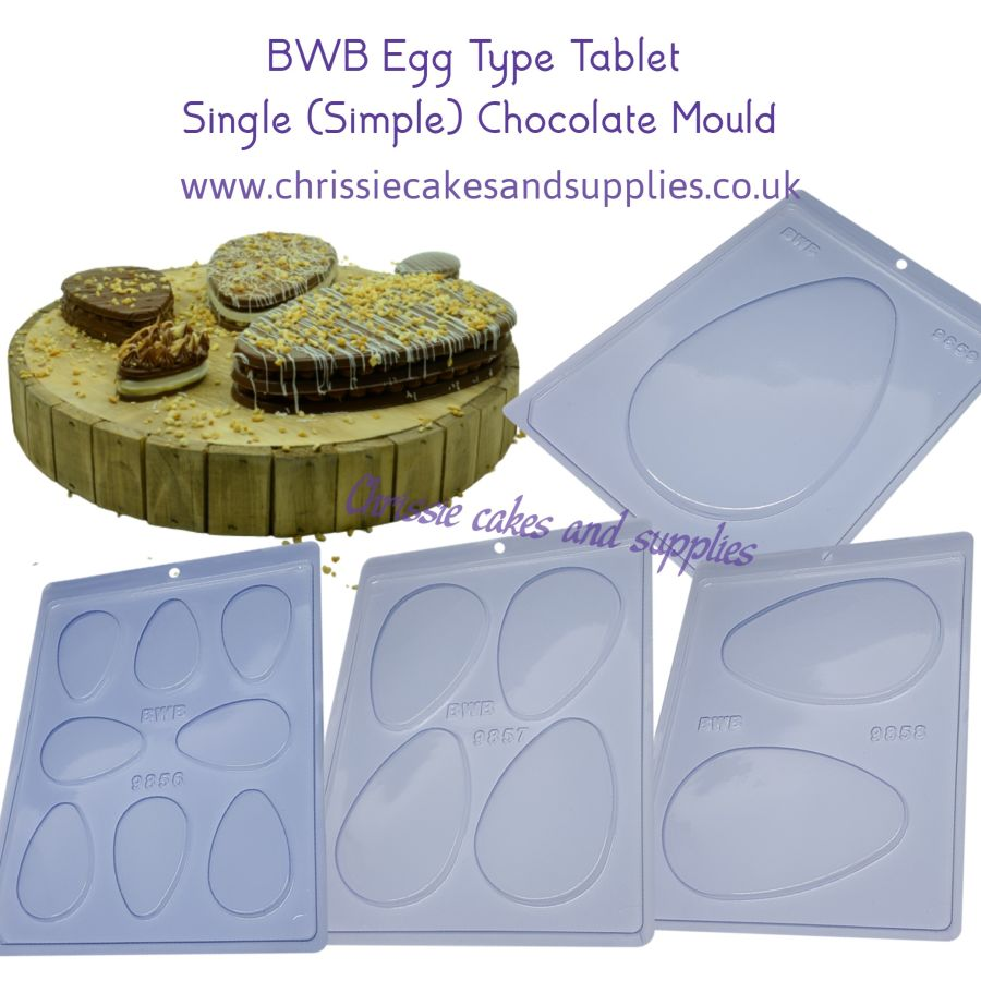 Egg Type Tablet SINGLE (Simple) Part mould - 4 sizes