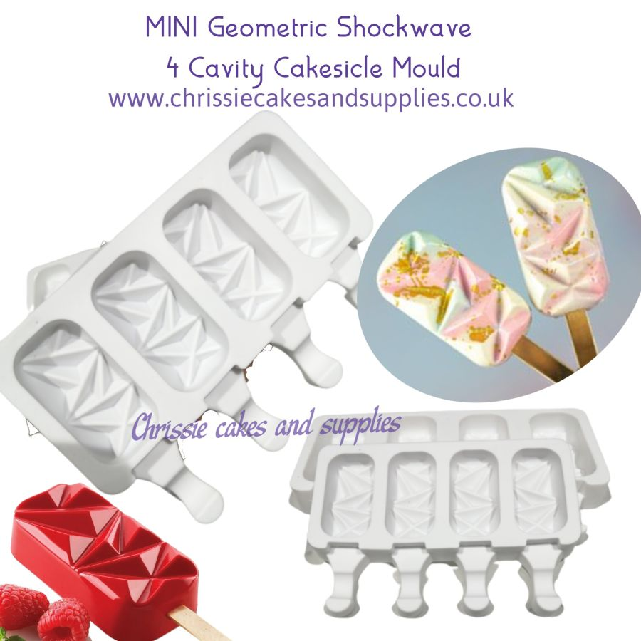 MINI Geometric Shockwave 4 cavity silicone mould