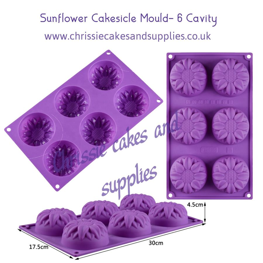 Sunflower Cakesicle Mould- 6 Cavity