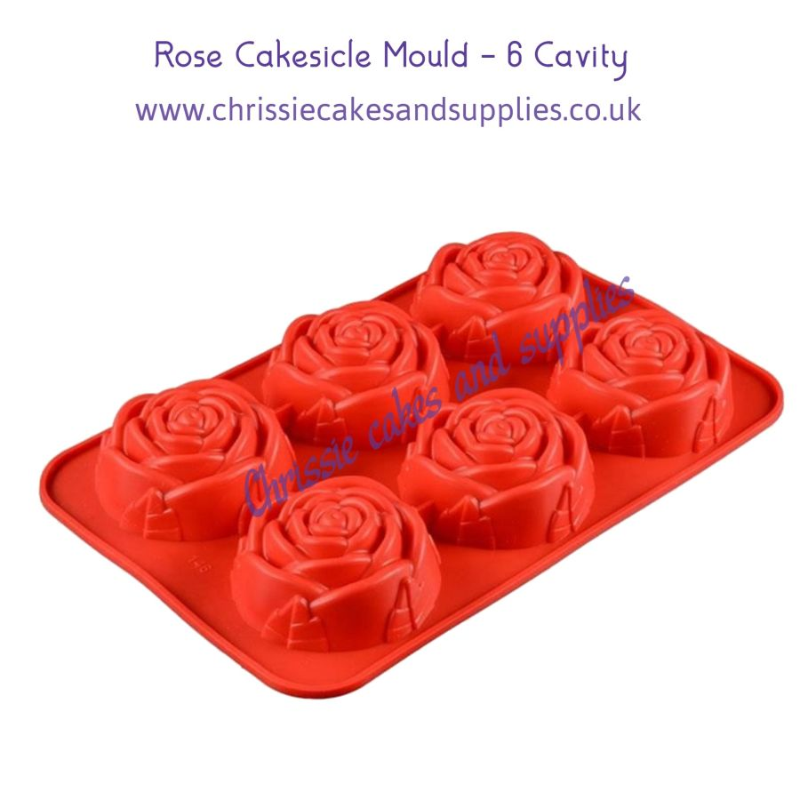 Rose Cakesicle Mould - 6 Cavity
