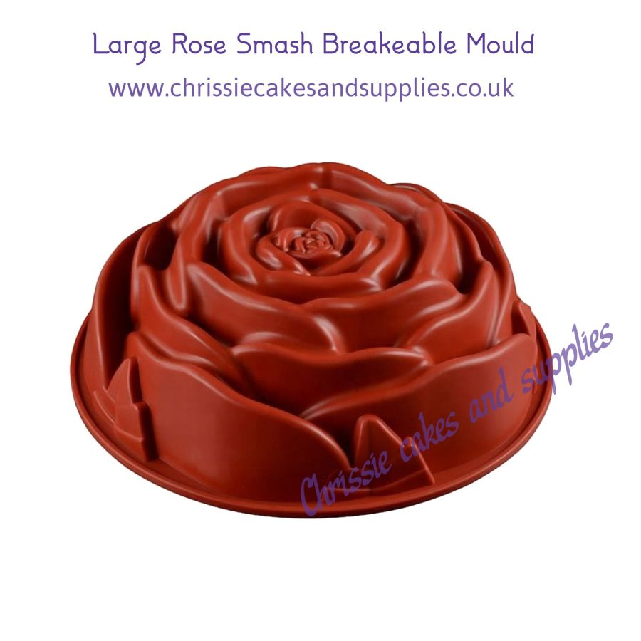 Large Rose Smash Breakeable Mould