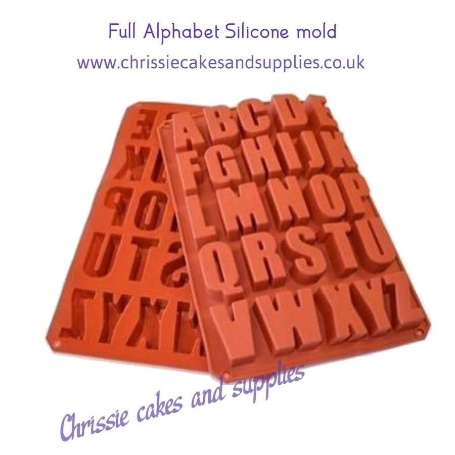 3D Full Alphabet silicone Mould