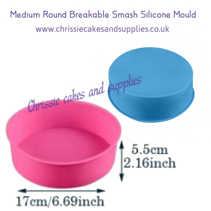 Medium Round Breakable Smash Silicone Mould