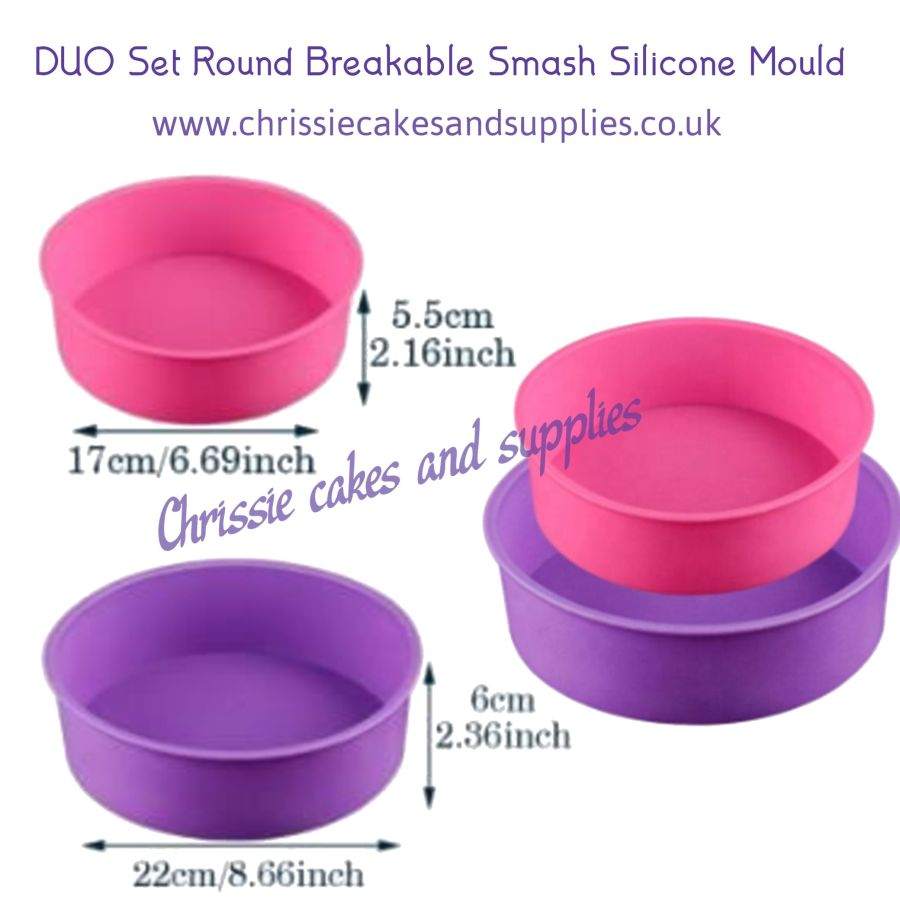 DUO Set Round Breakable Smash Silicone Mould
