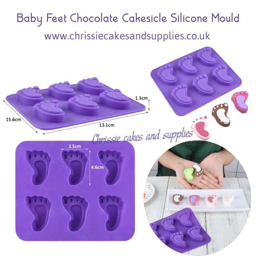 Baby Feet Chocolate Cakesicle Silicone Mould