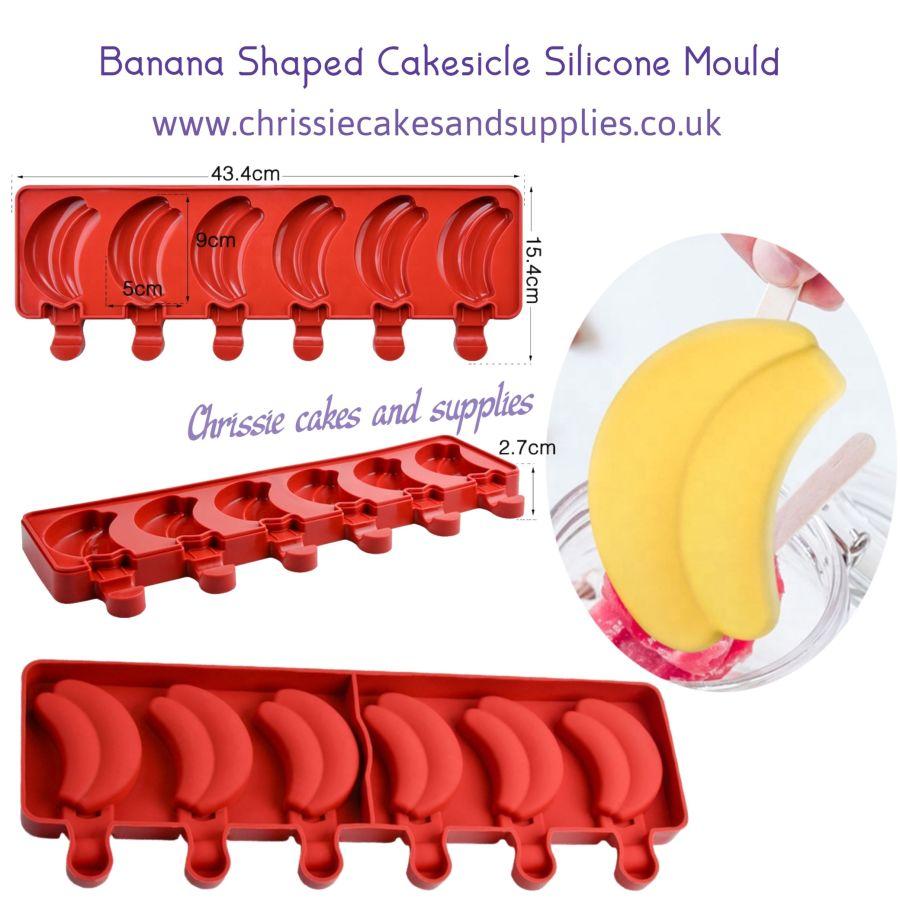 Banana Shaped Cakesicles Silicone Mould