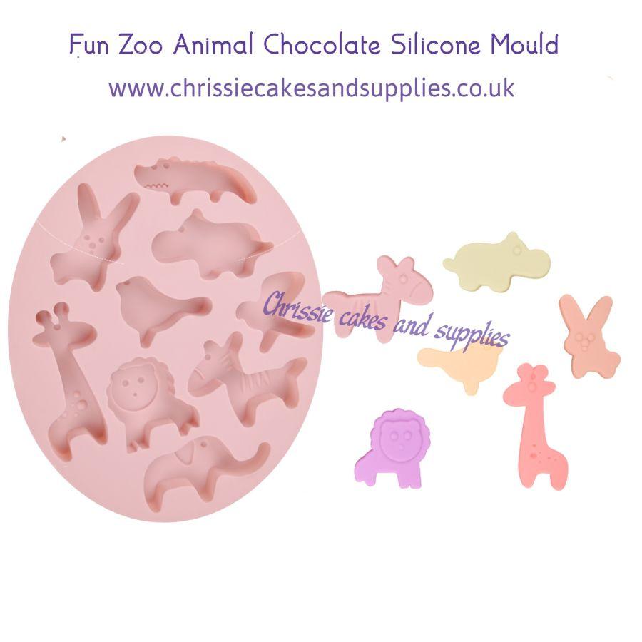 Fun Zoo Animal chocolate Silicone Mould