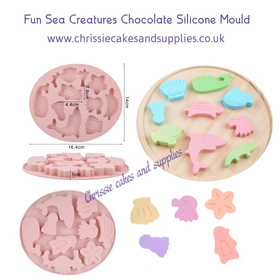 Fun Sea Creatures Chocolate Silicone Mould