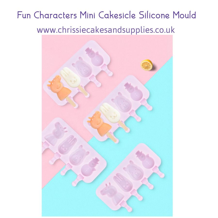 Fun Characters Mini Cakesicle Silicone Mould