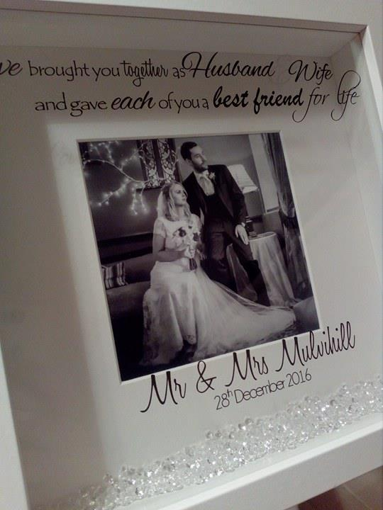 Husband Wife Best Friends For Life Box Frame