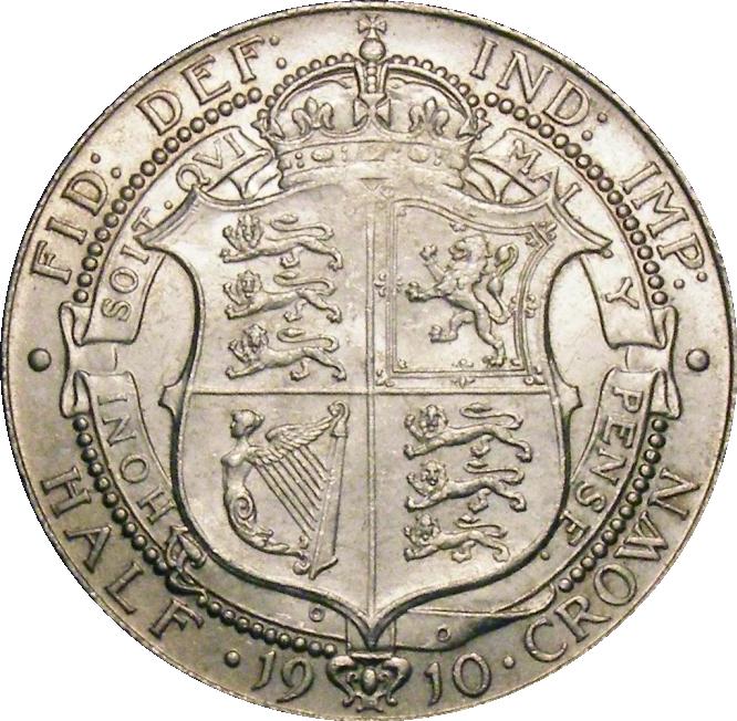 1910 Halfcrown, CGS 75, MS 62-63, aUNC, Edward VII, ESC 755