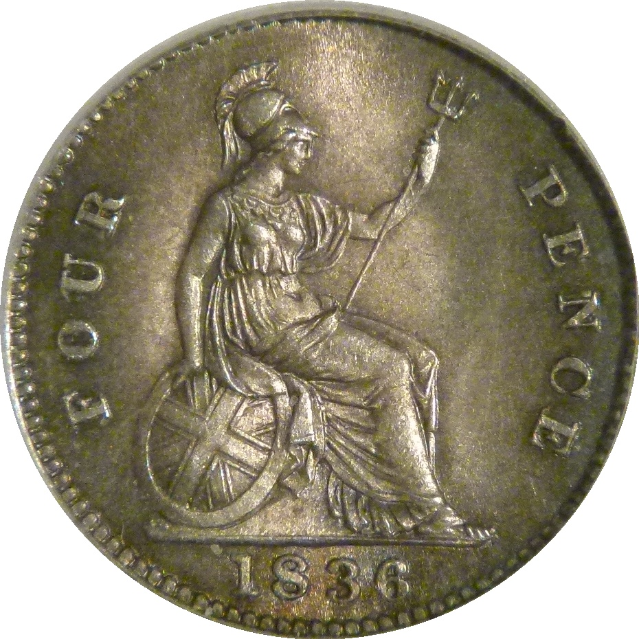 1836 Groat, D: G: variety, CGS 75(MS 62-63), Davies 380, Spink 3837, UIN 21020