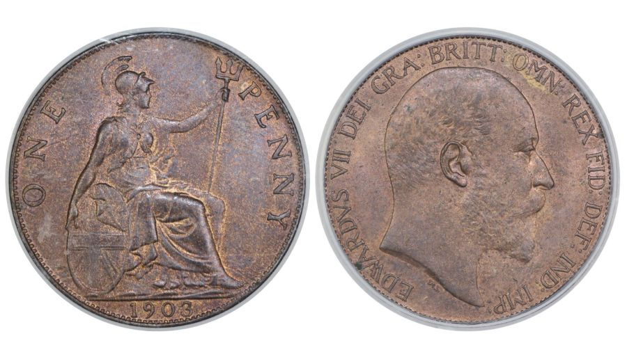 1903 Penny, CGS 78(MS 63-64), UNC, Edward VII, UIN 16983 - Sold at Facebook auction