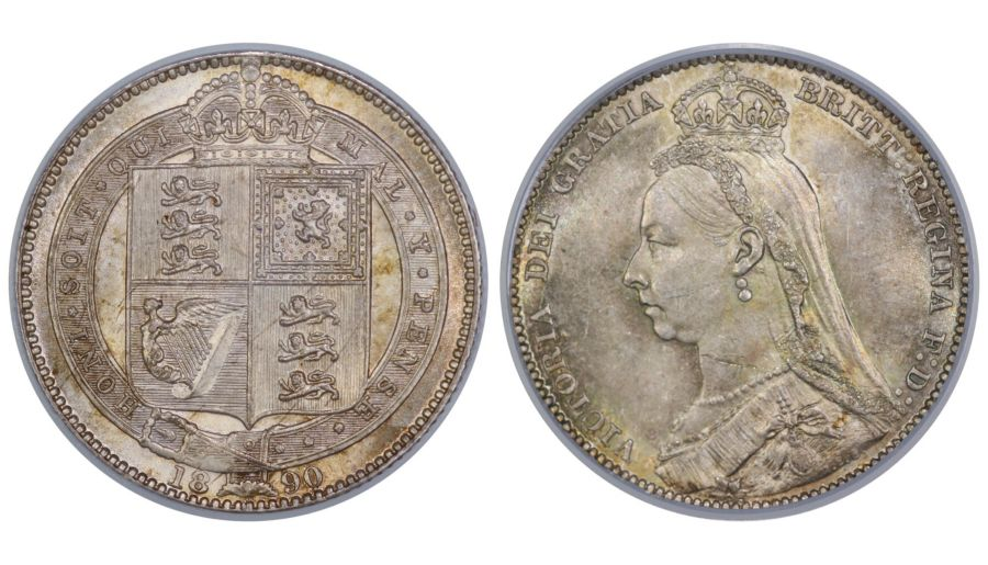 1890 Shilling, CGS 78(MS 63-64), UNC, UIN 26719