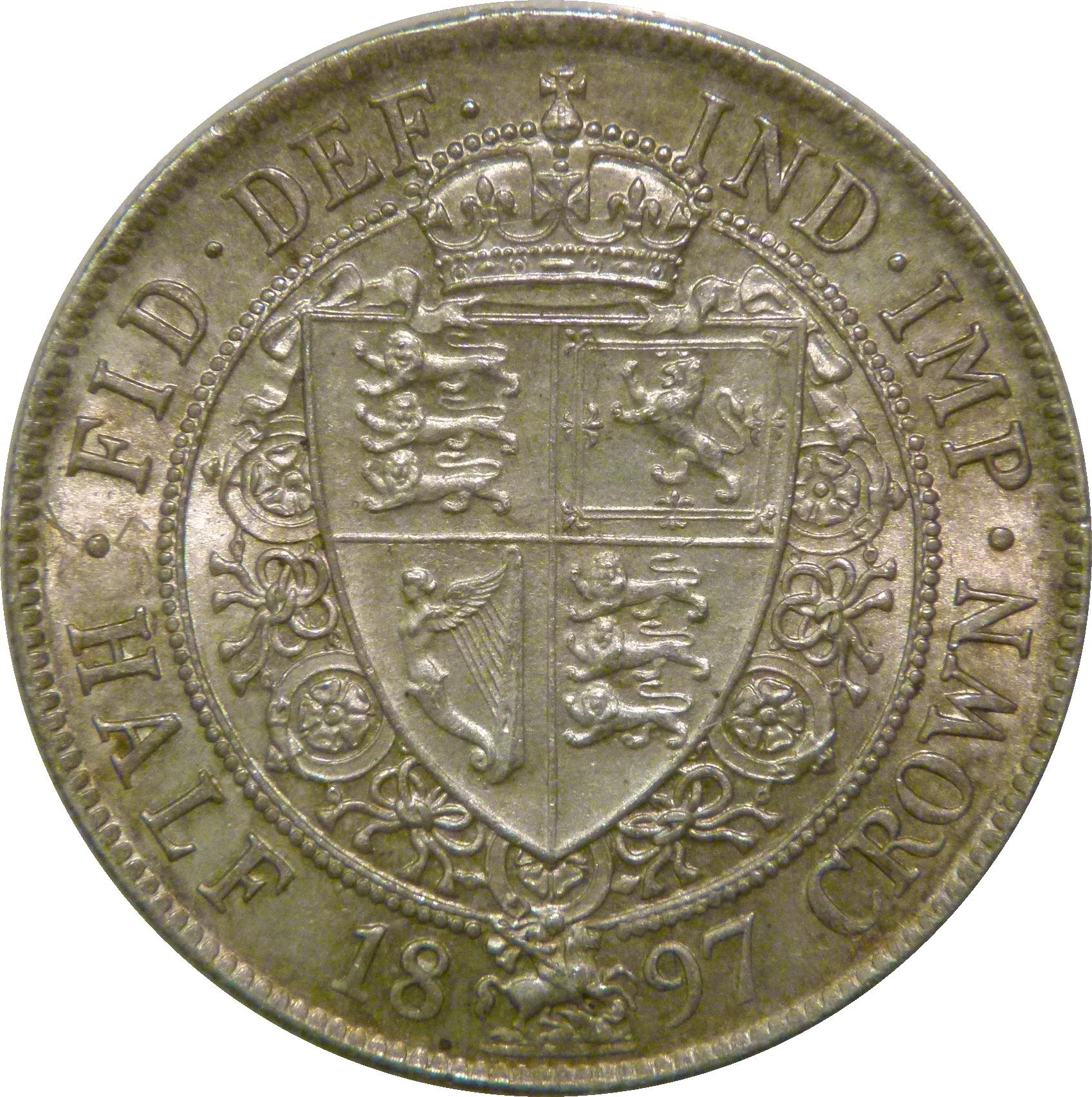 1897 Halfcrown, CGS 78(MS 63-64), UNC, Victoria, UIN 34113
